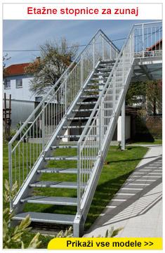 Etažne stopnice za zunaj