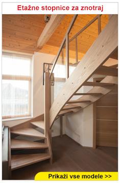 Etažne stopnice za znotraj