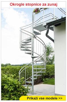 Okrogle stopnice za zunaj